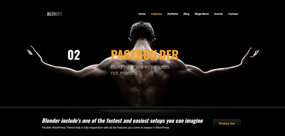 Blender Dark WordPress Themes