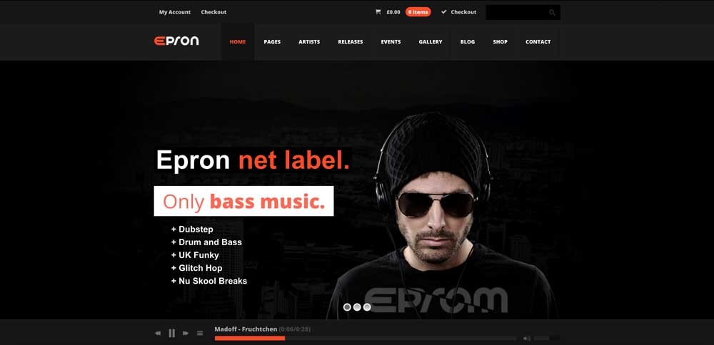 Epron - Dark Bolack WordPress Theme