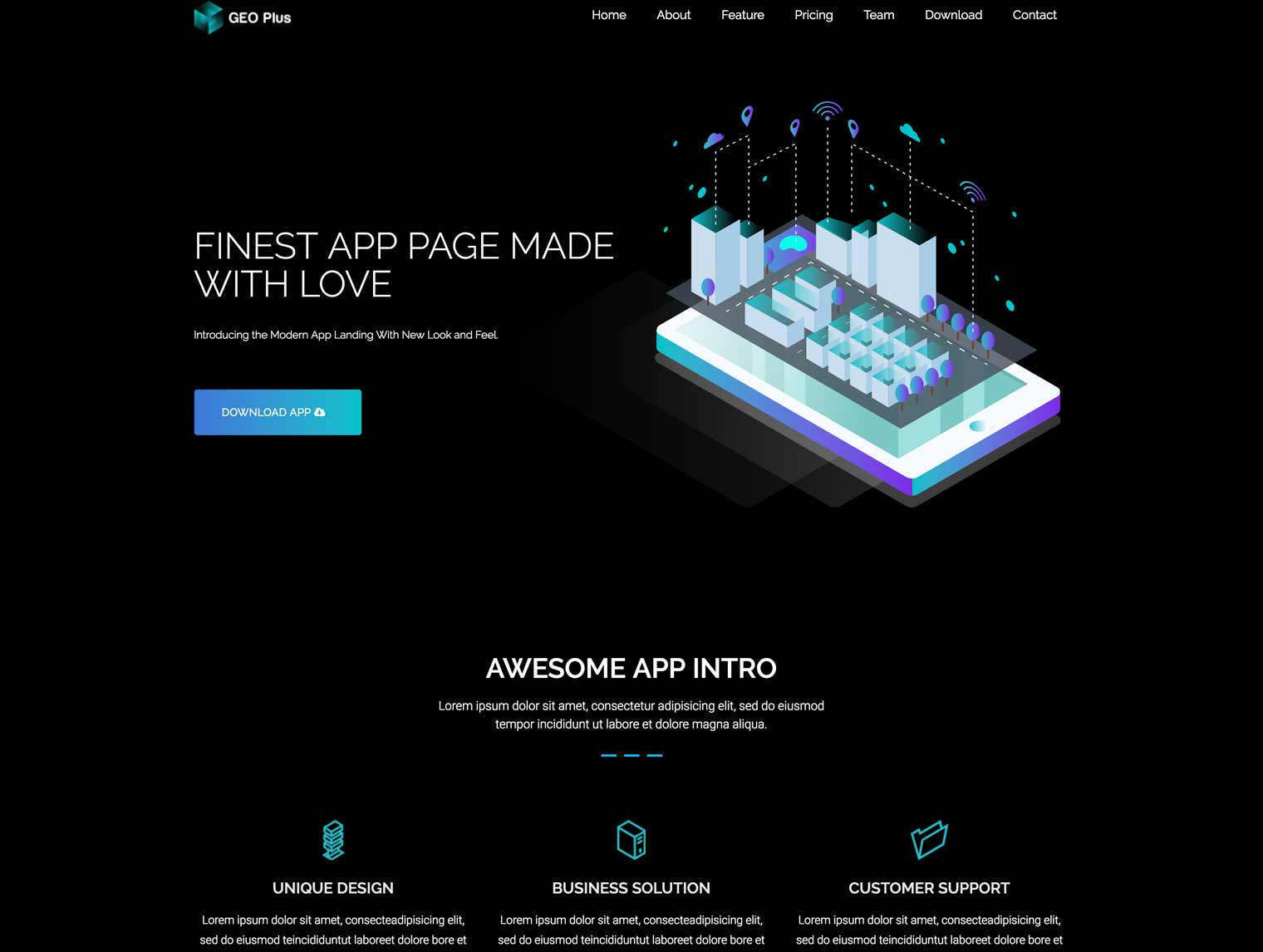 Geo Plus Dark WordPress Theme