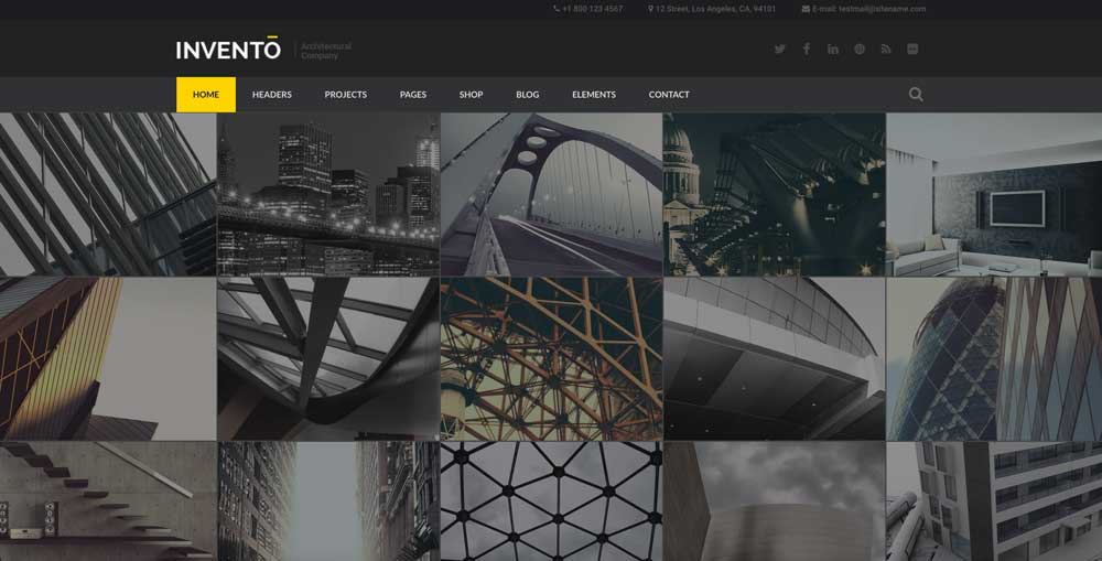 Invento Dark WordPress Theme