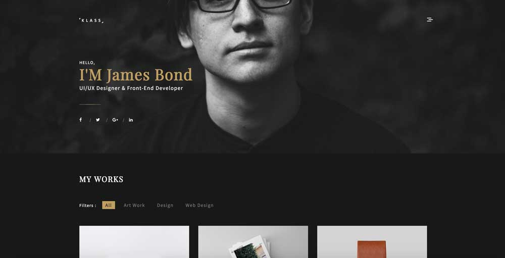 Klass - Dark Black WordPress Theme