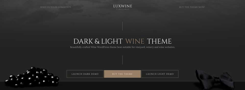 Dark Mysterious WordPress Theme - LuxWine