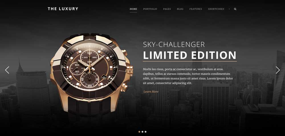 The Luxury Dark WordPress Theme