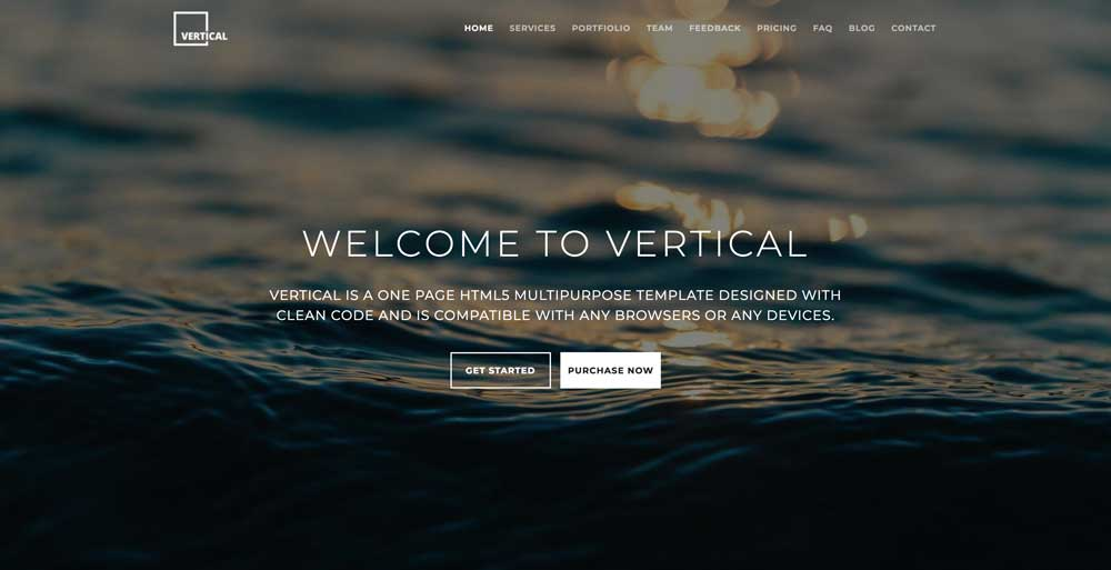 Dark WordPress Theme - Vertical