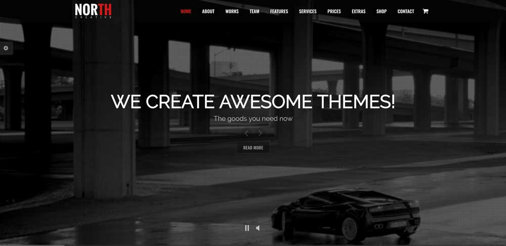 North Dark WordPress Theme