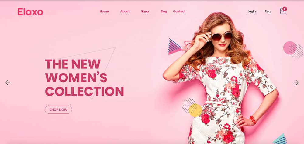 Elaxo Pink Girly Feminine WordPress Theme