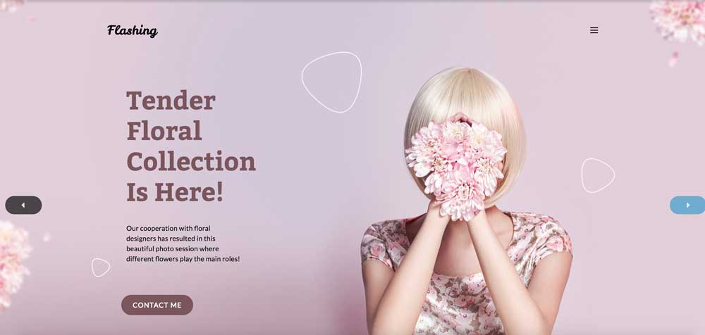 Pink Girly Feminine WordPress Theme - Flashing