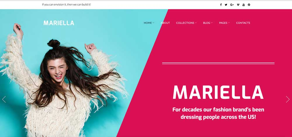 Mariella Pink Girly Feminine Fun WordPress Theme