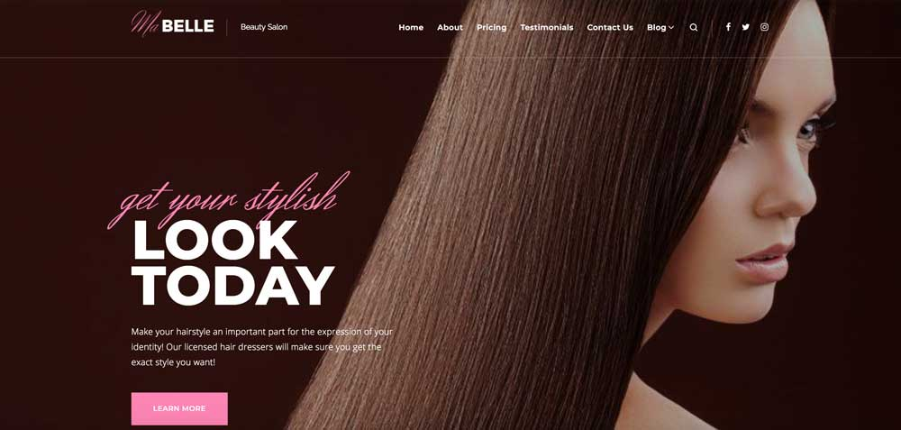 Monstroid Pink Girly Feminine WordPress Theme
