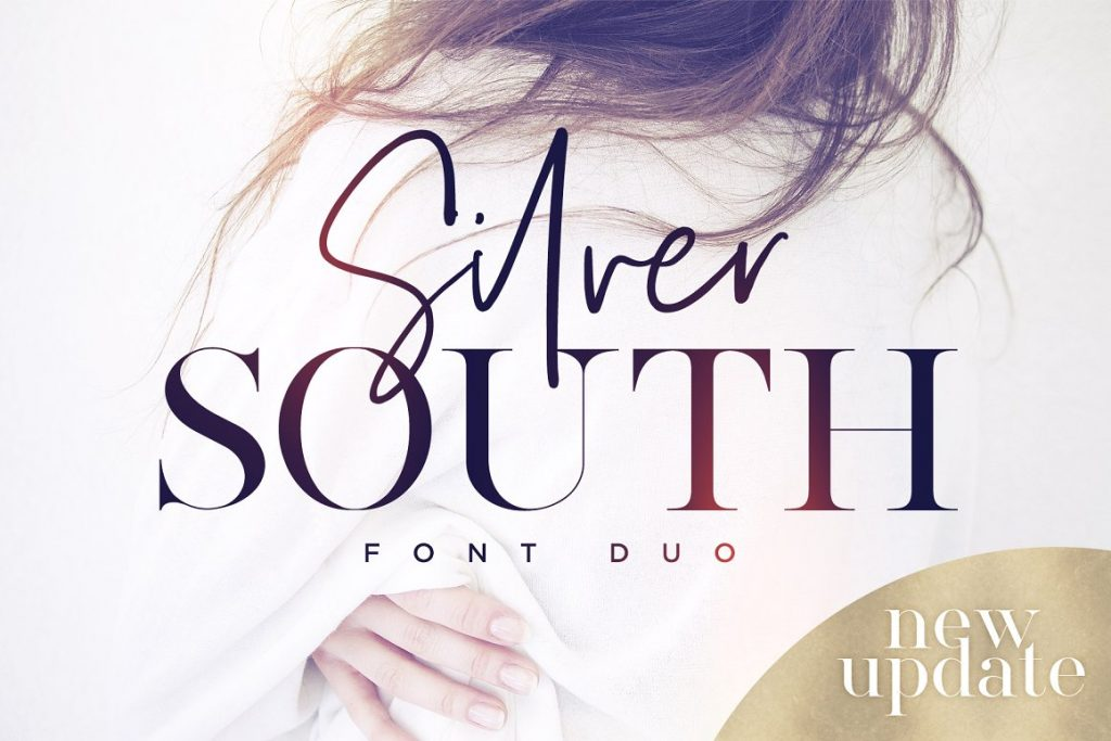 Classy Fonts - Silver South Font Duo